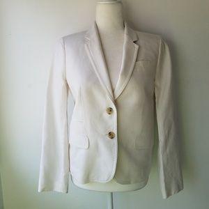 J Crew Schoolboy 100% Linen White Blazer